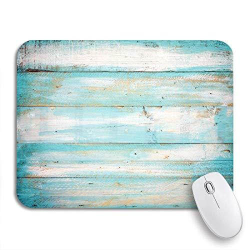 MIGAGA Gaming-Mauspad,Blaugrün Vintage Strand Holz alte blaue Farbe Holzplanke,Rutschfest Verschleißfestes Und Haltbares Gummi,Mousepad Für Bürocomputer,9.5