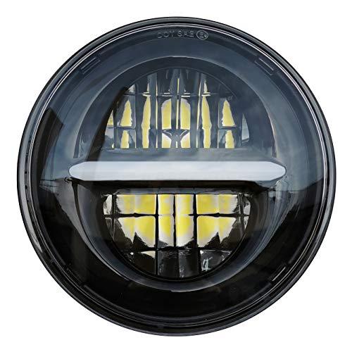 5.75 \'\' LED Projektions Scheinwerfer für Harley Davidson Sportster Dyna Nightster Wide Glide Street Bob Night Rod usw. 5 3/4 Zoll Runder Motorrad Scheinwerfer mit Tagfahrlicht (Schwarz)
