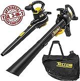 Best Leaf Vacuum Mulchers - TECCPO 3-in-1 Leaf Blower/Vacuum/Mulcher, 12 Amp Professional Leaf Review