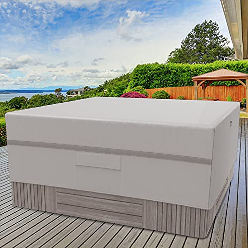 MR. COVER 86 x 86 Spa Cover, Hot Tub Cover Cap Waterproof, Outdoor Square Cover for Hot Tub Hard Cover, Heavy Duty 600D Rip Resistant Material