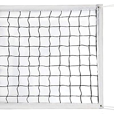 Milky House Volleyball Nets Volleyball Replacement Net for Outdoor or Indoor Sports Backyard Schoolyard Pool Beach (32 FT x 3 FT) Portable Outdoor Volleyball Net,Poles Not Included