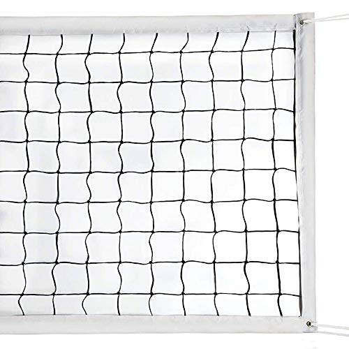 Volleyball Nets Professional Replacement Net for Backyard Schoolyard Sports Beach Swimming Pool Volleyball Net(32FTX3FT) Portable Indoor Outdoor Grass Cross Kids Volleyball Net Set, Poles Not Included