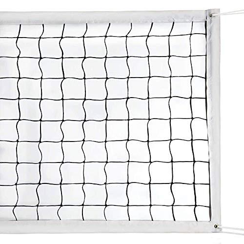 Milky House Volleyball-Netz, Volleyball-Ersatznetz für Außen- oder Innensportarten, Garten, Schule, Pool, Strand (90 x 90 cm), tragbares Volleyballnetz, Stangen nicht im Lieferumfang enthalten