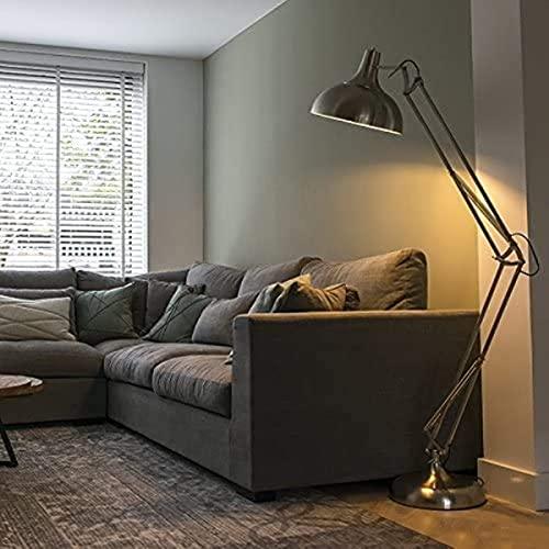 Lámpara de pie retro / Lámpara de pie Luz Hobby Acero / Plata / Mate de níquel / Iluminación interior / WohnzimmerLampe / Ronda de metal para dormir