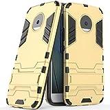 Coque pour Motorola Moto X4 (5,2 Pouces) 2 en 1 Double Couches Étui Antichocs Protection Rigide...