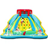 BOUNTECH Inflatable Water Slide, Double Side Park w/ Large Climbing Wall, Splashing Pool, Water Cannon, Including Carry Bag, Repair Kit, Stakes, Hose, Mighty Bounce House for Outdoor (Without Blower)
