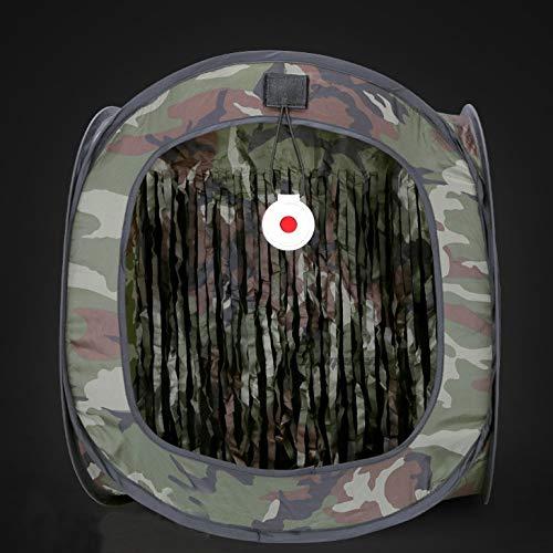 weichuang Außenzelt Outdoor-Bogenschießen Jagd Katapult Fall Airsoft Schießtraining Zelt Faltbare Schleuder Tactical BB Target Shooting-Zelt Zelt (Color : Black)