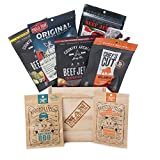 Slaughterhouse Crate by Man Crates – Includes 6 Delicious Bags of Beef Jerky – Flavor Profiles Include Baby Blues BBQ, Honey Jalapeno, Sweet Picante and More – Great Gift for Men