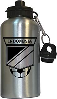 Indonesian Soccer Water Bottle Silver - Indonesia