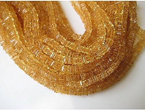 1 rang Natur Citrin quadratische Beads,, frei von Blei 6  ca., 38,1