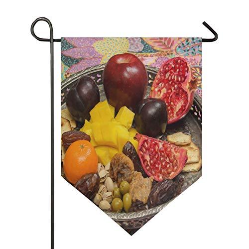 AMONKA Traditionelle jüdische Feiertags-Fahne, doppelseitig, Polyester, Hofflagge für Haus, Außendekoration, 30,5 x 45,7 cm, Polyester, Multi, 28x40 Inch