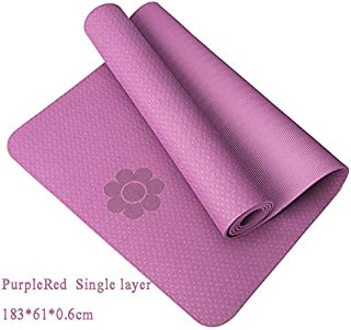 Extra Thick Yoga Mat Extra Thick Non-Slip Foam Yoga Mats Free Bags for Fitness Tasteless Pilates Gym Exercise Pads with Yoga Strap 183cmX61cm Purple