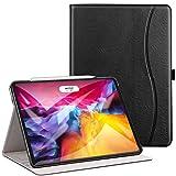 ZtotopCase Hülle für iPad Pro 11 2020(2.Generation), Premium Leder Leichte Geschäftshülle mit Ständer, Mehrfachwinkel, Kartensteckplatz, für iPad 11' 2020, Schwarz
