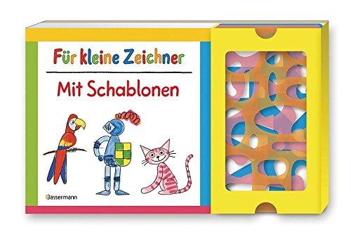 Für kleine Zeichner mit Schablonen-Set: Buch mit drei Schablonen