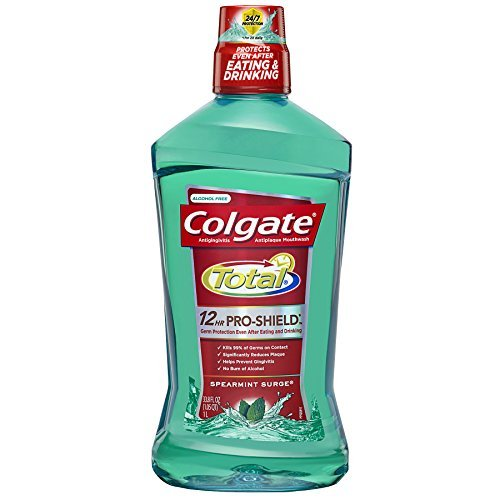 Colgate Total Advanced Pro-Shield Spearmint Surge Enjuague bucal, 33.8 fl oz