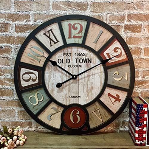 L&WB Estilo Americano Rural Pared Reloj salón Bar café Personalidad Vi...