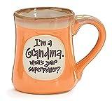 'I'm a Grandma, What's Your Superpower' 18 oz Porcelain Coffee Cup Mug