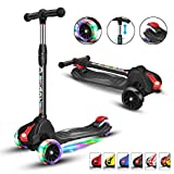 XJD Scooters for Kids 3 Wheels Scooters for Toddler Boys Girls Adjustable Height Extra-Wide Deck 100% Assembled PU Flashing Wheels...