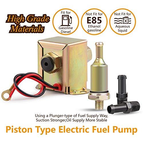 InLine Kraftstoff Pumpe 12Volt universal Metall Niederdruck Elektrische Kraftstoffpumpe Für Benzin Diesel 2,5–4psi EP12
