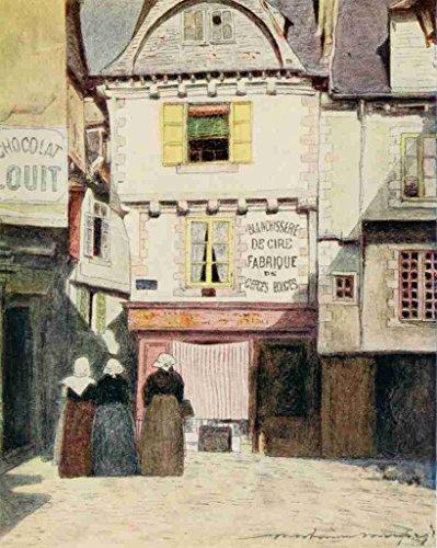 A4 Photo Menpes Mortimer 1855 1938 Bretagne 1912 Plaats Henri Quatre Vannes Print Poster