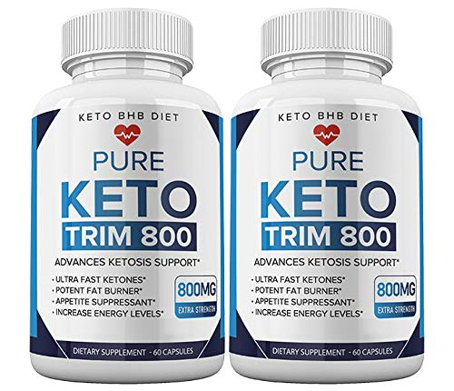 (2pack) Keto Trim 800 Pills - Keto Trim BHB Diet Pill Supplement for Energy, Focus - Exogenous Ketones for Rapid Ketosis - Ketogenic BHB for Men Women (120 Capsules) 1