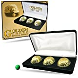 Magic Makers Golden Metal Three Shell Game Magic Trick Kit with Deluxe Display Case