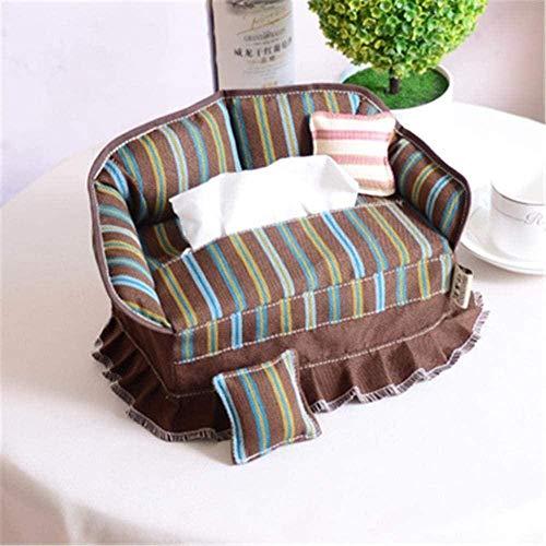 e-dreamstore 1P, scatola per fazzoletti, in tessuto rurale, creativo, a forma di divano, portatovaglioli, per casa, auto, hotel, KTV, 1,1