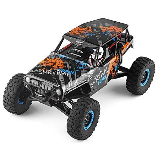 DBXMFZW 10428-A2 1:10 Escala 4WD High Speed Control Remoto Control Remoto Coche Todo Terreno Escalada RC Vehículo Bigfoot Monster RC Truck RC Modelo, Crash y Drop RC Coche Regalos para niños y adult