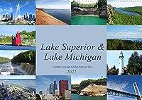 """Lake Superior & Lake Michigan (Wandkalender 2022 DIN A2 quer): Impressionen aus der Region der """"Great Lakes"""" (Monatskalender, 14 Seiten )"""