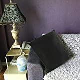 COMFORT INNOVATION Sofa Throw Pillow Cover Velvet Solid Color Pillow Case 18x18 Inch/ 24x24inch | Color - Black-60x60cm