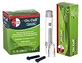 Swiss point Of Care Dispositivo di lancio + 100 lancette | per la raccolta rapida e sicura di una goccia di sangue dal dito | per tutti i misuratori Swiss Point Of Care e On Call