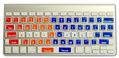 Learn to Type Keyboard Stickers Touch Typing for Kids and Adults Easily Applied to All Keyboards