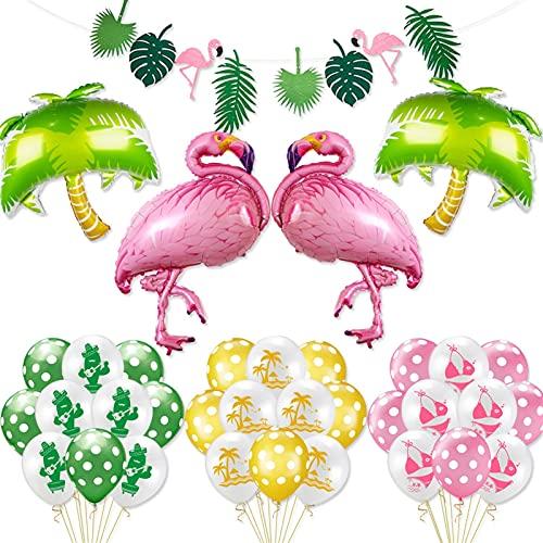 Globo Decoraciones de Fiesta de Verano Flamingo Coco árbol Piña de piña...