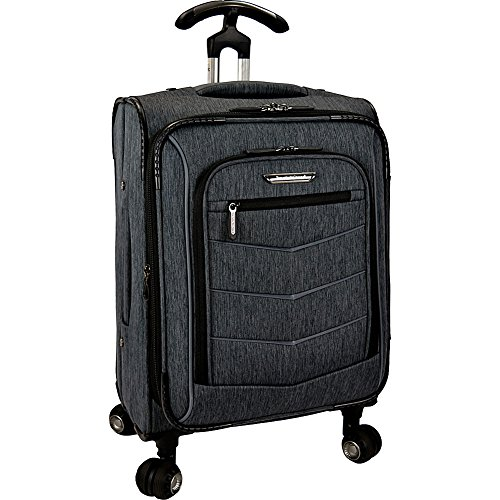 Traveler's Choice Silverwood Softside T-Cruiser Expandable Spinner Luggage, Gray, Carry-on 21-Inch