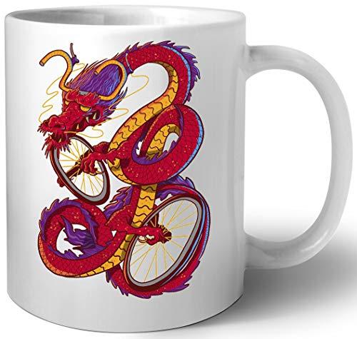 Drachen Fahrrad Keramik Tassen Mug