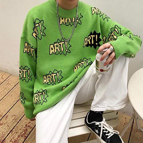 Otoño Invierno Hombres Suéter Casual Gráfico Impreso Jerseys Ropa Mujer Coreana Streetwear Mujer Suéteres...