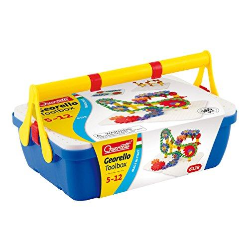 Quercetti 6138 - Georello Tool Box - Konstruktionsspielzeug, 165-teilig