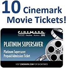 10 Cinemark Theatre Platinum Supersaver Movie Tickets (Save $20+)