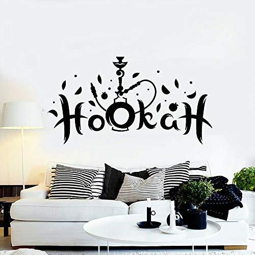WSYYW Hookah Shisha Smoking Tobacco Wall Decal Arabic Lounge Decor Wall Stickers Vinyl Home Living Room Decoration Wallpaper A3 107X57CM