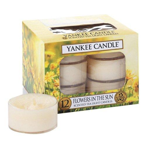 Yankee Candle Tea Light Candela, Flowers in the Sun, Confezione da 12 Pezzi