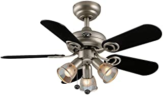 Hampton Bay San Marino 36 in. Brushed Steel Ceiling Fan