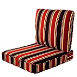 Quality Outdoor Living 29-RS02SB All-Weather Deep Seating Chair Cushion, 23 x 26, Red Stripe