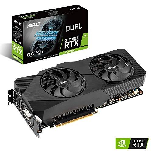 ASUS Nvidia GeForce RTX 2060S DUAL EVO OC 8G Super Gaming Grafikkarte (PCIe 3,0, 8GB DDR6 Speicher, HDMI, Displayport, USB Type-C, OC Edition)