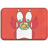Bandera de Perú Pata de Perro Interior al Aire Libre Bienvenido Felpudo para Muebles para el hogar Cocina