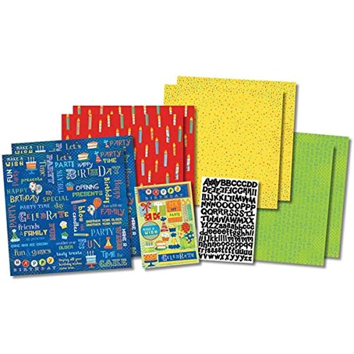 Karen Foster Design Themed Paper and Stickers Scrapbook Kit, Birthday