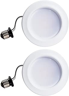 Philips 801464 65W Equivalent Dimmable Soft White LED Downlight (2 Pack), 5-6