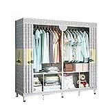 JIAO PAI Armario de dormitorio, soporte de metal, para hogar, armario, para niñas, almacenamiento abierto, instalación...