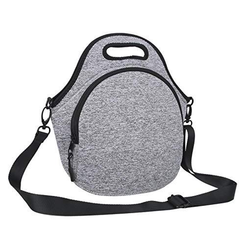 DAUERHAFT Neoprenmaterial Lange Lebensdauer Isolierung Lunchbag Neopren-Lunchbag, für Arbeitsessen, für Einkaufstaschen, für unterschiedliche Bedürfnisse, für den(Light Grey)