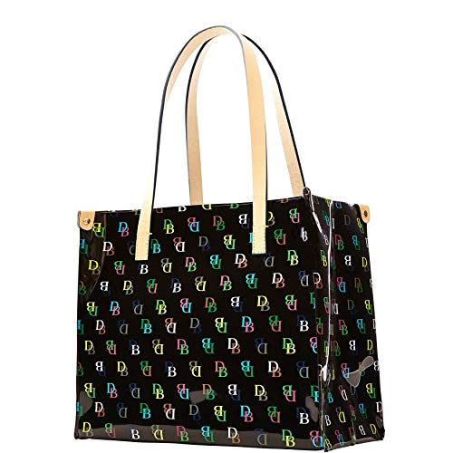 Dooney & Bourke Medium IT Shopper Tote Handtasche Schwarz