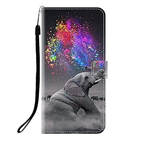 Sunrive Kompatibel mit Lenovo ZUK Z2 Pro Hülle,Magnetisch Schaltfläche Ledertasche Schutzhülle Etui Leder Hülle Handyhülle Tasche Schalen Lederhülle MEHRWEG(Q Elefant 2)